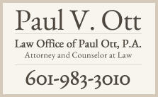 Paul Ott | Jackson, MS Attorney At Law
